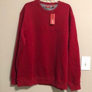 🆕Izod Men's Sweatshirt SZ XL Red New With Tags!